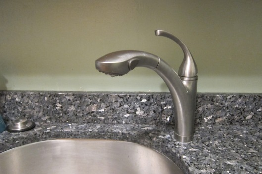 faucet before