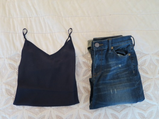 jcrew tank and jeans