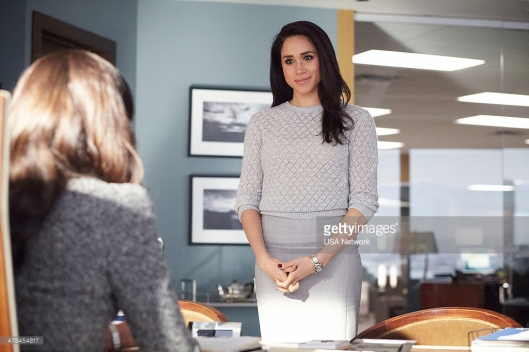 "SUITS -- ""Heartburn"" Episode 314 -- Pictured: Meghan Markle as Rachel Zane -- (Photo by: Ian Watson/USA Network/NBCU Photo Bank)"
